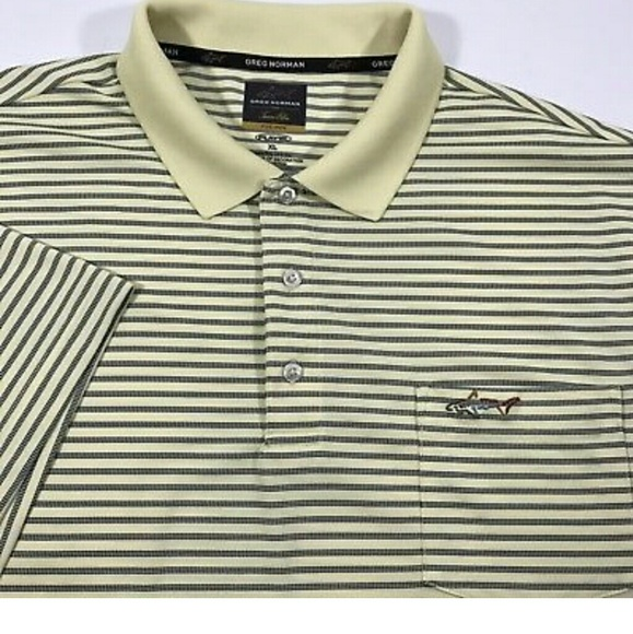 4aae3eb23 GREG NORMAN Five Iron Play Dry Golf Polo Shirt
